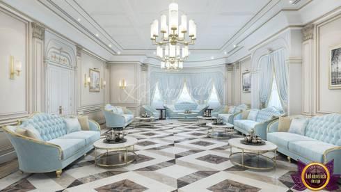   Elegant style in the interiors of Katrina Antonovich: classic Living room by Luxury Antonovich Design