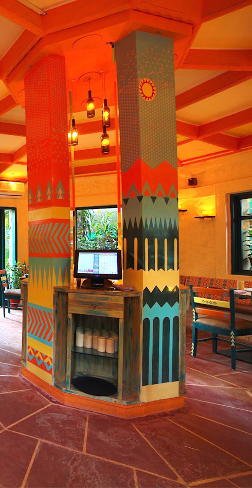 Ariba hauz khas:   by Total Interiors Solutions Pvt. ltd.