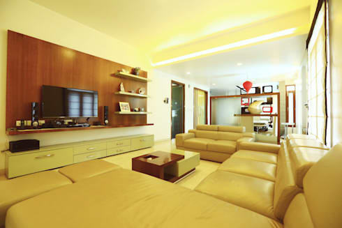 TV Area: modern Media room by Space Trend