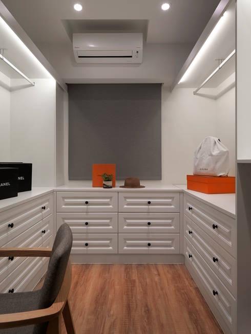 غرفة الملابس تنفيذ 御見設計企業有限公司