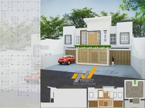 RUMAH PRIBADI & GUEST HOUSE:  Rumah tinggal  by 4project