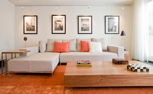 Tenleytown Rowhouse: modern Living room by FORMA Design Inc.