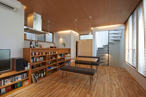 三軒茶屋の家 -都市でも気持ちよく住まう家-: (有)菰田建築設計事務所が手掛けたダイニングです。