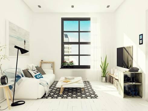 Studio Apartment, Noida: modern Living room by AR T Architect