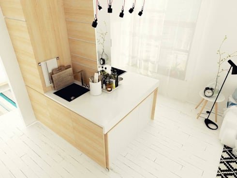 Studio Apartment, Noida: modern Kitchen by AR T Architect