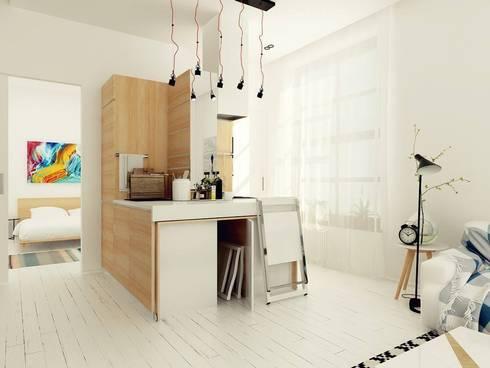 Studio Apartment, Noida: modern Dining room by AR T Architect