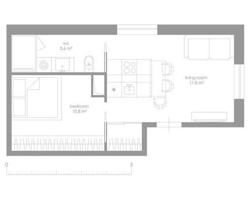 Studio Apartment, Noida:   by AR T Architect