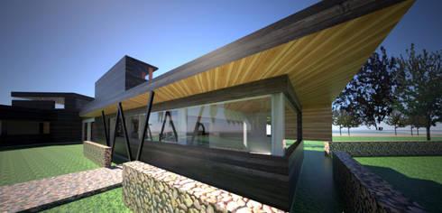Centro de eventos, Codigua, Melipilla.: Cocinas de estilo mediterraneo por Toledo estudio Arquitectos