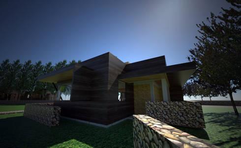 Centro de eventos, Codigua, Melipilla.: Casas de estilo mediterraneo por Toledo estudio Arquitectos