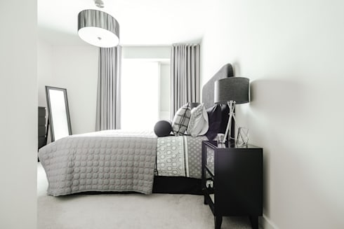 Guest Bedroom: modern Bedroom by Katie Malik Interiors