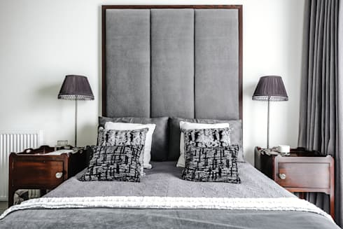 Master bedroom: modern Bedroom by Katie Malik Interiors