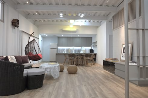 Weekend House:  客廳 by 構築設計