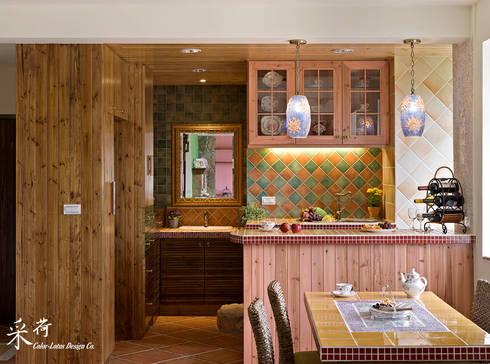 雙溪山居-鄉村風格:  廚房 by 采荷設計(Color-Lotus Design)