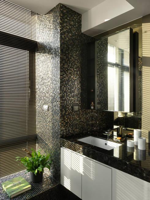 思路 延伸 Sense of Meditation:  浴室 by 禾築國際設計Herzu  Interior Design