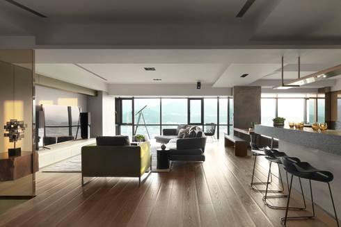 思路 延伸 Sense of Meditation:  客廳 by 禾築國際設計Herzu  Interior Design