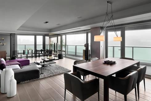 JJ HOUSE:  餐廳 by 禾築國際設計Herzu  Interior Design