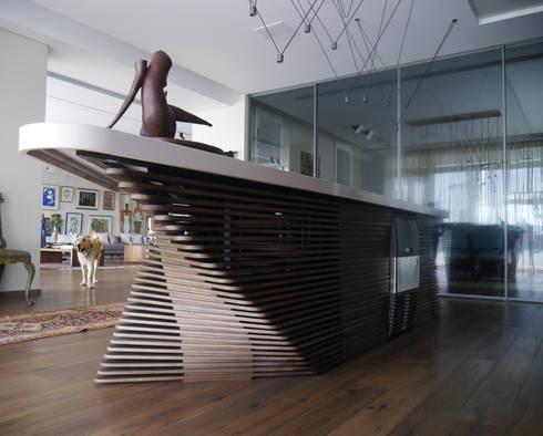 modern Wine cellar by ENCODE STUDIO
