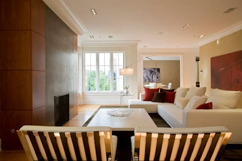 Kalorama Flat: modern Living room by FORMA Design Inc.