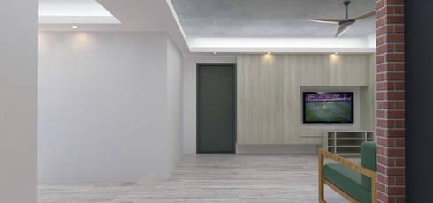 LI RSSIDENCE:  客廳 by Fu design
