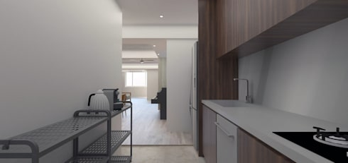 LI RSSIDENCE:  廚房 by Fu design