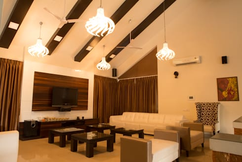 Bungalow- Lavasa: modern Living room by Aesthetica