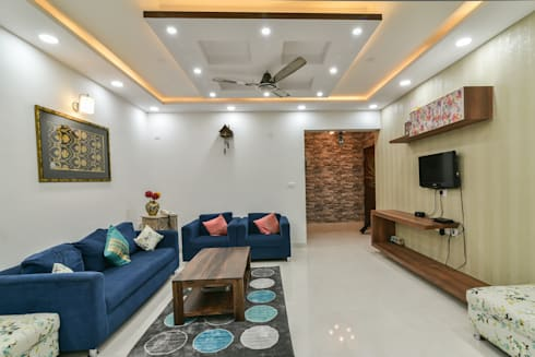 Gloryfields Apartment—Bangalore: classic Living room by Wenzelsmith Interior Design Pvt Ltd