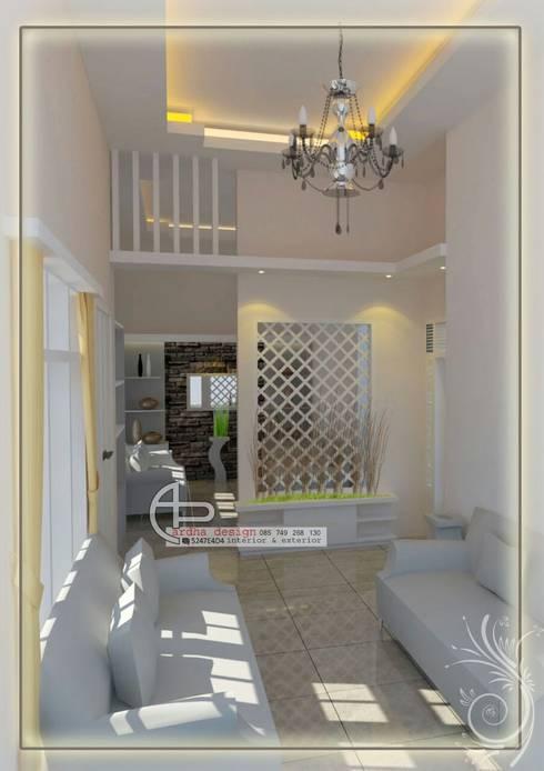 sekat ruang keluarga:  Ruang Keluarga by Ardha Design