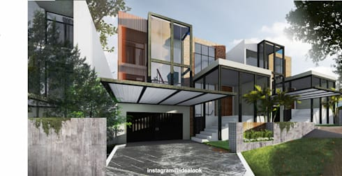 Rumah Tinggal Tipe Industrial - Jakarta:   by Idealook