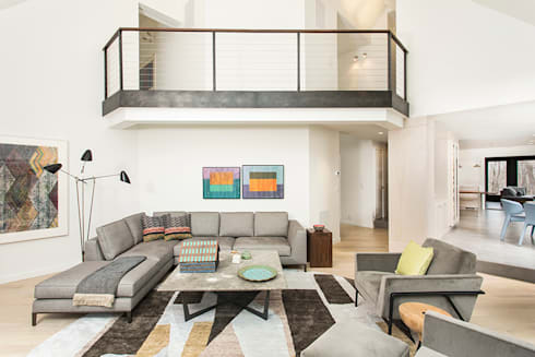 Dutchess County Residence, Amenia, NY: modern Living room by BILLINKOFF ARCHITECTURE PLLC