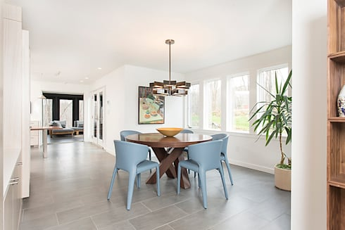 Dutchess County Residence, Amenia, NY: modern Dining room by BILLINKOFF ARCHITECTURE PLLC