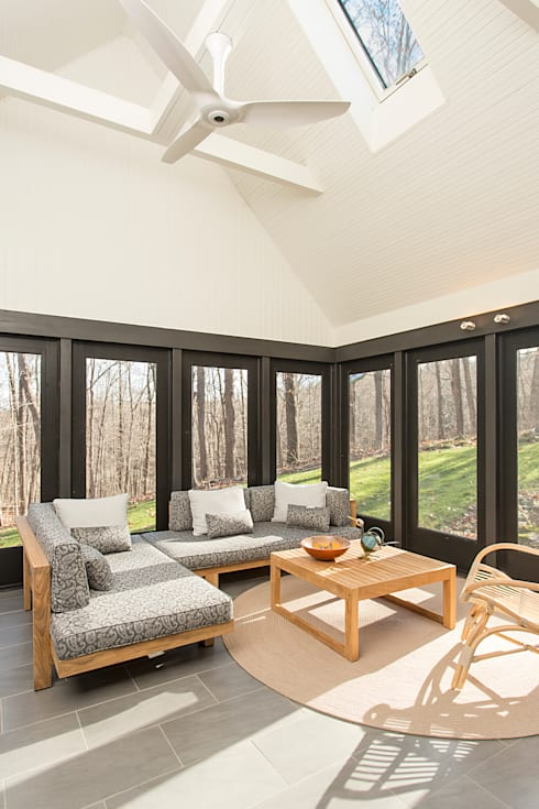 Dutchess County Residence, Amenia, NY:  Patios & Decks by BILLINKOFF ARCHITECTURE PLLC