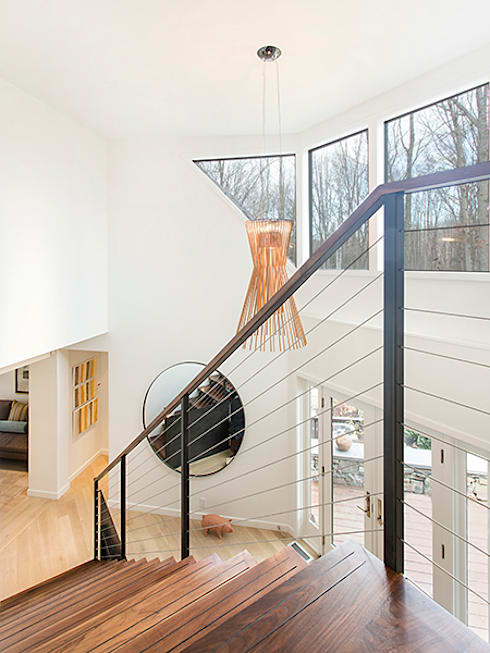 Dutchess County Residence, Amenia, NY:  Corridor & hallway by BILLINKOFF ARCHITECTURE PLLC