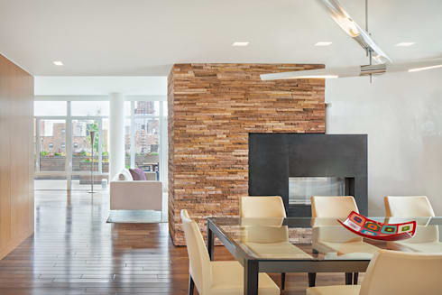 High Line Penthouse, New York, NY: minimalistic Dining room by BILLINKOFF ARCHITECTURE PLLC