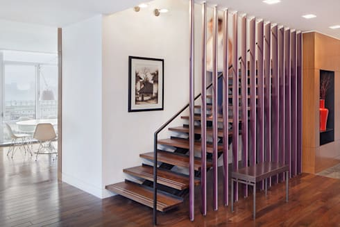 High Line Penthouse, New York, NY:  Corridor & hallway by BILLINKOFF ARCHITECTURE PLLC
