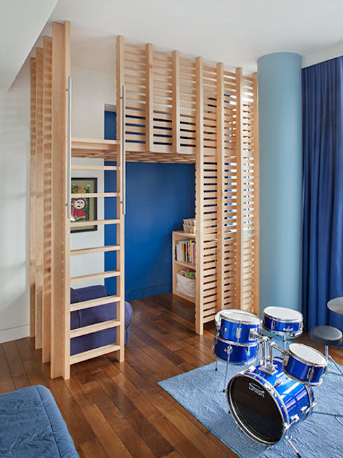 High Line Penthouse, New York, NY:  Nursery/kid's room by BILLINKOFF ARCHITECTURE PLLC