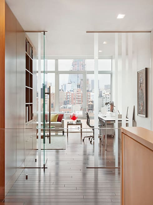 High Line Penthouse, New York, NY:  Study/office by BILLINKOFF ARCHITECTURE PLLC