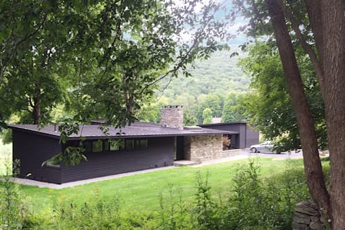 Macedonia Brook Road Midcentury, Kent, CT: modern Houses by BILLINKOFF ARCHITECTURE PLLC