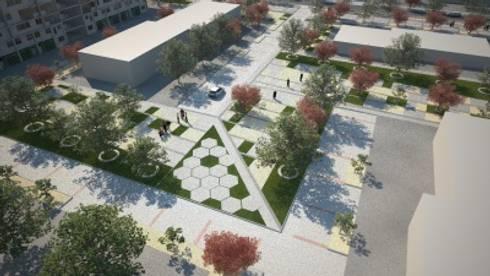 Intervención paisajística Villa Portales :  de estilo  por XS Arquitectura