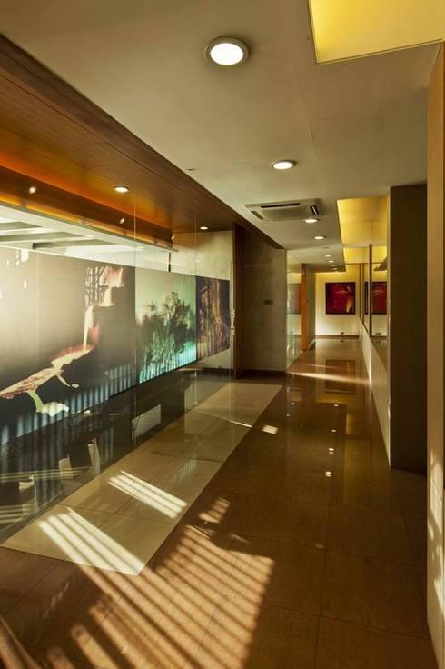 Passage:  Office buildings by Studio - Architect Rajesh Patel Consultants P. Ltd