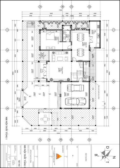 Mặt bằng thiết kế:  Nhà gia đình by KIẾN TRÚC TÂY HỒ