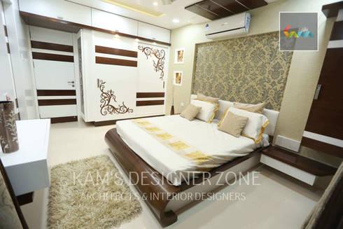 Flat Designed at Aundh of Mr. Satish Tayal: modern Bedroom by KAM'S DESIGNER ZONE