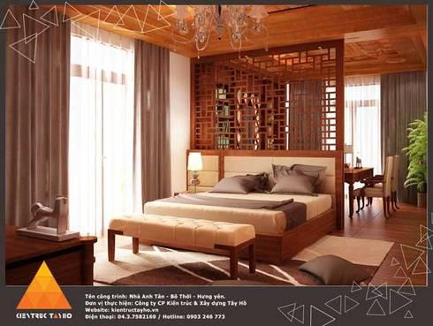 Phòng ngủ Master:  Phòng ngủ by KIẾN TRÚC TÂY HỒ