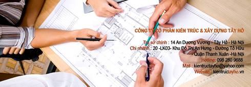 Trụ sở làm việc:  Văn phòng & cửa hàng by KIẾN TRÚC TÂY HỒ