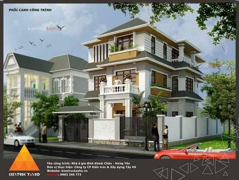 Phối cảnh kiến trúc mặt ngoài:  Nhà by KIẾN TRÚC TÂY HỒ