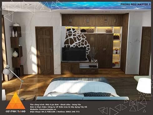 Phòng ngủ Master view2:  Phòng ngủ by KIẾN TRÚC TÂY HỒ