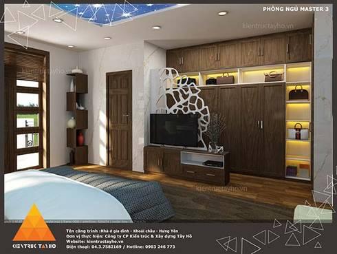 Phòng ngủ Master view3:  Phòng ngủ by KIẾN TRÚC TÂY HỒ