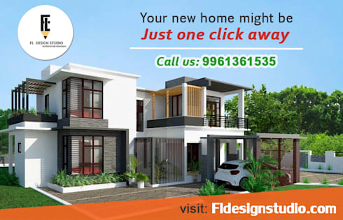 Residence for Mr. Kiran at Thalassery By FL Design Studio:   by FL Design Studio | Fastline projects pvt ltd