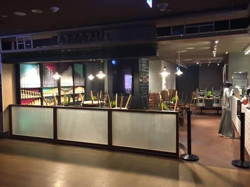 zazzazu義式輕食料理:  餐廳 by DS&BA Design Inc 伊國設計