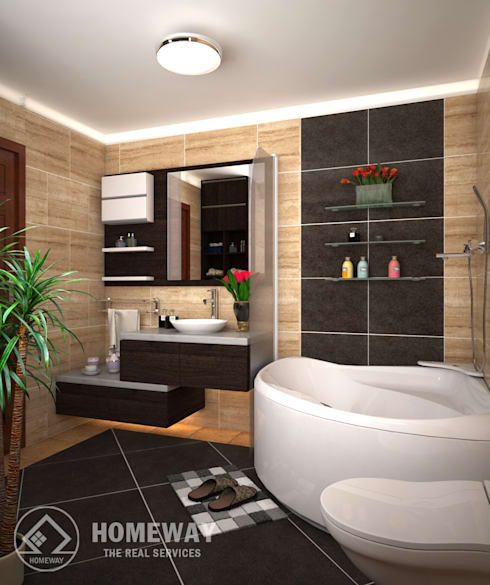 Phòng tắm:  Phòng tắm by HOMEWAY