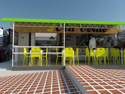 Proyecto comercial cafetería : Paredes de estilo  por Naromi  Design